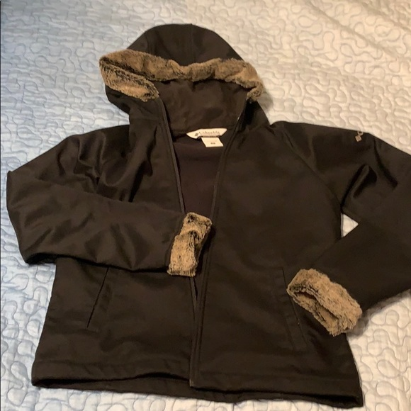 Faux Fur Trimmed Columbia Soft Shell Jacket